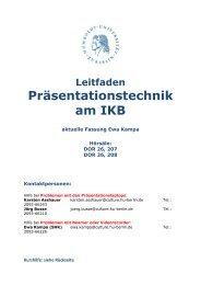 Leitfaden Präsentationstechnik am IKB