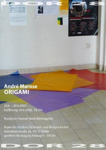 DOR28 - Video als Raum - Einladung 4 - Institut für Kunst