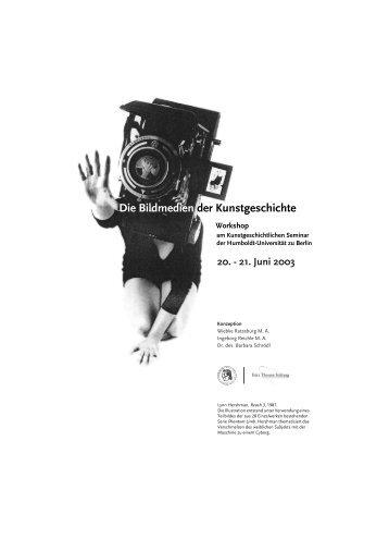 Die Bildmedien der Kunstgeschichte - Institut für Kunst- und ...