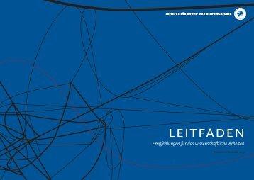 leitfaden - Institut für Kunst- und Bildgeschichte - Hu-berlin.de