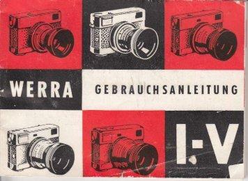 Bedienungsanleitung für Werra I - IV - Museum Digital