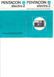 Bedienungsanleitung Pentacon electra 2 - Museum Digital