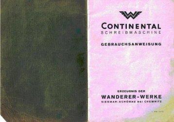 Bedienungsanleitung für Wanderer Continental ... - Museum Digital