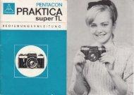 Bedienungsanleitung für Praktica Super TL - Museum Digital
