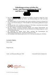 Schenkungsvertrag zwischen der - Museum Digital