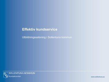 Effektiv kundservice.pdf - Offentliga rummet