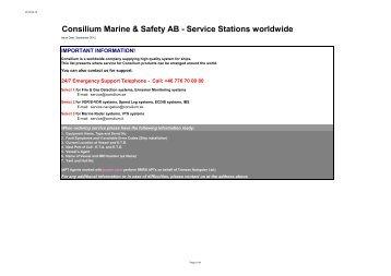 Service Stations worldwide - Consilium