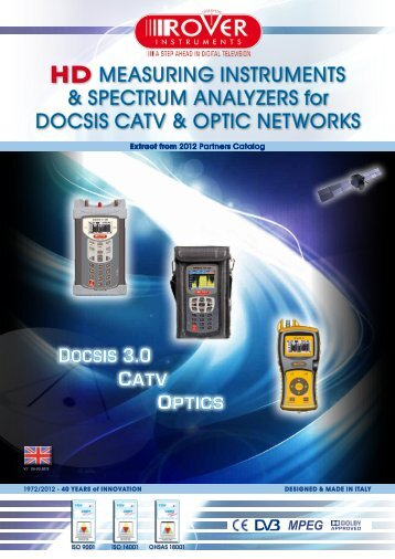 HD MEASURING INSTRUMENTS & SPECTRUM ANALYZERS for ...