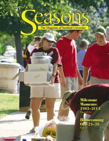 1983–2003 Homecoming Oct. 23–26 - Samford University