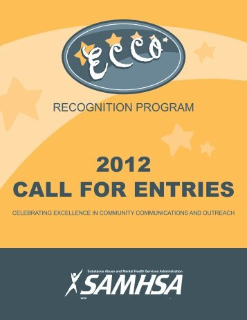 2012 call for entries - Substance Abuse and Mental Health Services ...