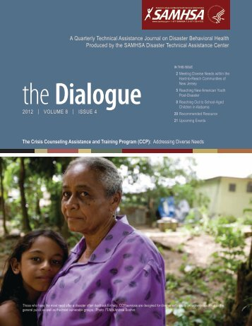The Dialogue, Volume 8, Issue 4 - Substance Abuse and Mental ...