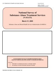 National Survey of Substance Abuse Treatment Services (N-SSATS)