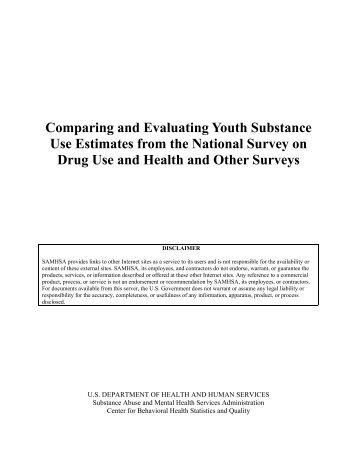 Comparing and Evaluating Youth Substance Use Estimates from the ...
