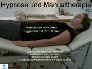 Workshop 3: Hypnose und Manualtherapie - bei der SAMM