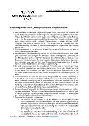 """Positionspapier SAMM """"Manipulation und ... - bei der SAMM"""
