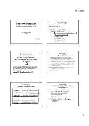 Thoraxschmerzen aus manualmedizinischer Sicht - bei der SAMM