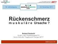 Rückenschmerz: Muskuläre Ursache? - bei der SAMM