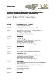 Programm GHBF - bei der SAMM