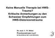 Keine Manuelle Therapie HWS-Trauma - bei der SAMM
