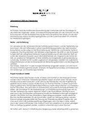 Jahresbericht 2008 des Präsidenten Einleitung Im ... - bei der SAMM