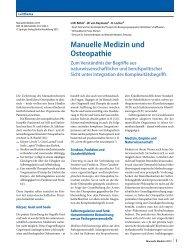 Manuelle Medizin_Komplexe Systeme_Osteopathie - bei der SAMM