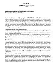 Jahresbericht Weiterbildungskommission - bei der SAMM