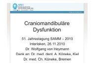 Craniomandibuläre Dysfunktion - bei der SAMM