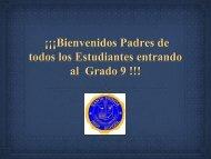 Middle School Parent Presentation 2013 in Spanish