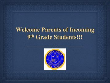 9th & 10th Grade Parent Night