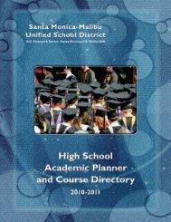 Academic Planner - Santa Monica High School - Santa Monica ...