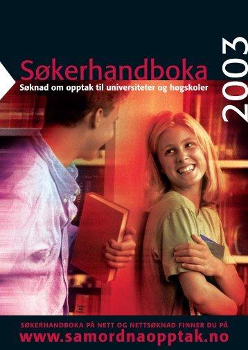 Søkerhandboka 2003 - Samordna opptak