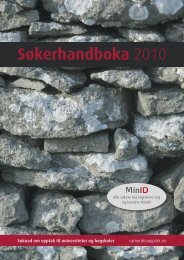 Søkerhandboka 2010 - Samordna opptak