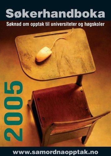 Søkerhandboka 2005 - Samordna opptak