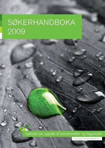 Søkerhandboka 2009 - Samordna opptak