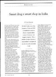 Srnart drug e srnartshop in Italia - Giorgio Samorini Network