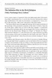 The Initiation Rite in the Bwiti Religion - Giorgio Samorini Network