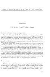 FUNGHI ALLUCINOGENI ITALIANI - Giorgio Samorini Network