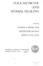 FOLK MEDICINE AND HERBAL HEALING