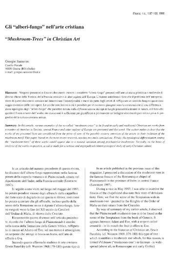 """Gli """"alberi-fungo"""" nell'arte cristiana - Giorgio Samorini Network"""