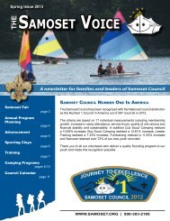 Spring Issue 2013 - Samoset Council