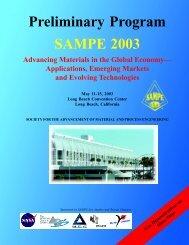 SAMPE 2003 Symposium and Exhibition, Renaissance Long Beach ...