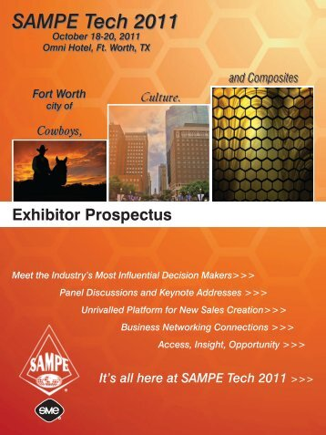 It's all here at SAMPE Tech 2011