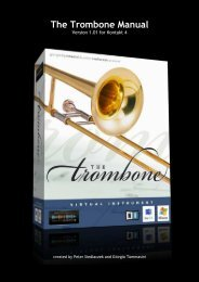 The Trombone Manual better layout - Sample Modeling