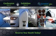 reserve your Booth today! conference exhibition - Sampe