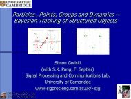 Particles, Points, Groups and Dynamics - SAMSI