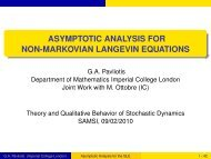 Asymptotic Analysis for the Generalized Langevin Equation - SAMSI