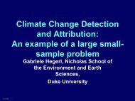Climate Change Detection and Attribution: An example of a ... - SAMSI