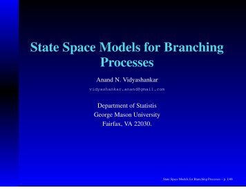 State Space Models for Branching Processes and ... - SAMSI