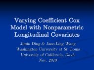 Varying Coefficient Cox Model with Nonparametric ... - SAMSI