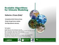 Scalable Algorithms for Climate Modeling - SAMSI